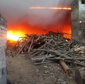 fire in plywood factory company
