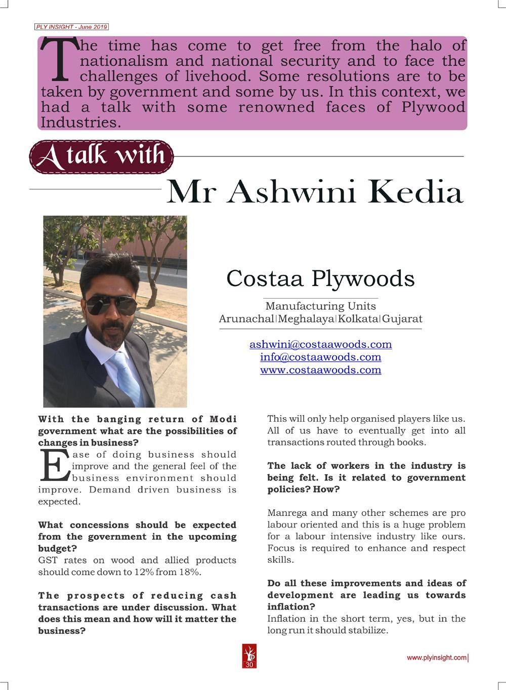 Mr. Ashwini Kedia