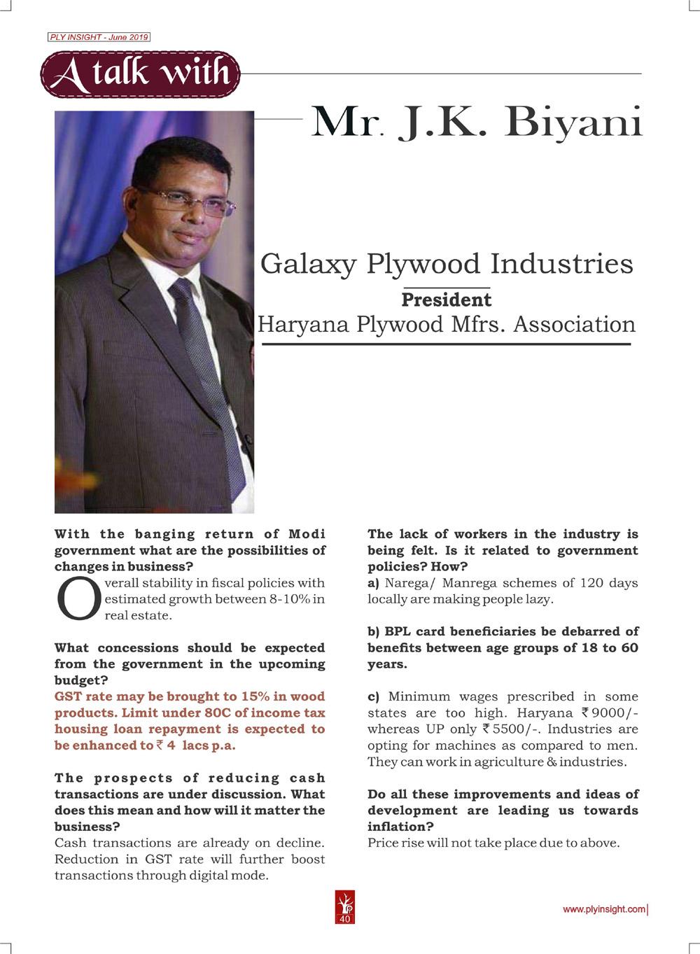Mr. J.K. Biyani